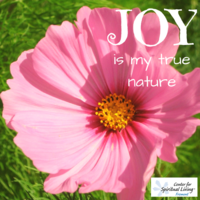 "Because the meaning of my real means ""JOY!"""
